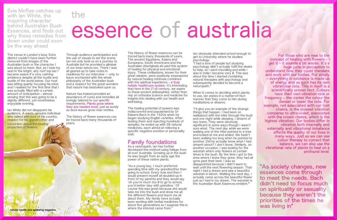 natural health, australian bush remedies, reiki, Evie McRae, Deputy Editor, Reiki Practitioner