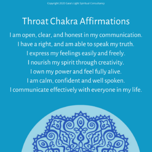 Throat Chakra Affirmation